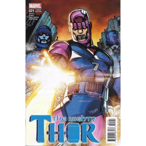 Mighty Thor #21 Jim Lee Trading Card Variant Cover