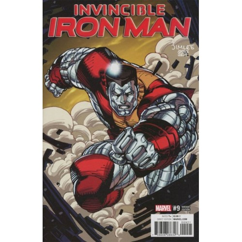 Invincible Iron Man #9 Jim Lee Trading Card Variant Covers