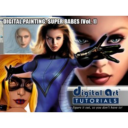 Digital Art Tutorials Super Babes Vol 1
