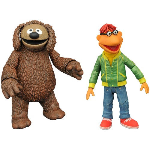 DIAMOND SELECT TOYS The Muppets Best of Series 1: Scooter & Rowlf Action Figure Two-Pack, Multicolor