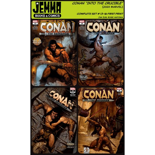 """Conan the Barabarian """"Into the Crucible"""" storyline Complete Set #13-16 (Marvel 2020)"""