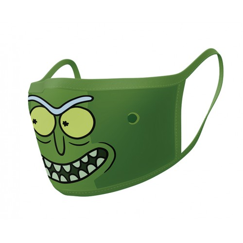 Rick and Morty -Pickle Rick Pyramid Face Mask (2 Pieces)