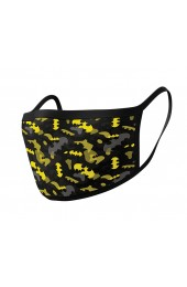 Batman Camo Yellow Pyramid Face Mask (2 Pieces)