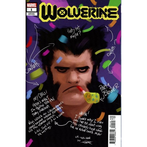 WOLVERINE #1 - RAHZZAH PARTY SKETCH VAR DX (Marvel 2020)