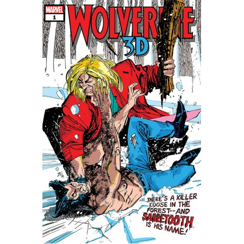 WOLVERINE VS SABRETOOTH 3D #1 (MARVEL)