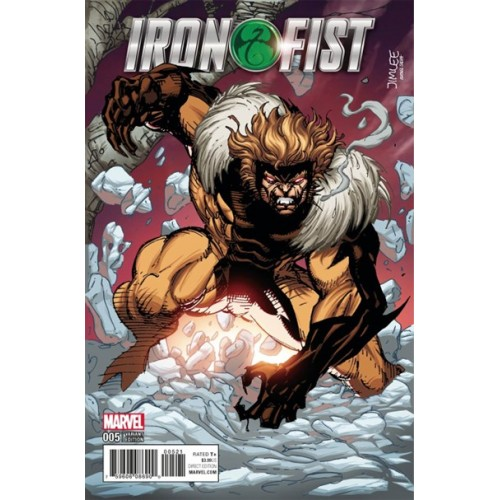 Iron Fist #5 Jim Lee Trading Card Variant Cover