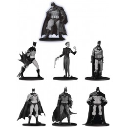 DC Collectibles Batman Black & White Mini Figure 7 Pack Box Set Three