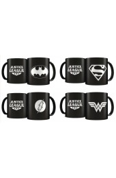 DC Heroes Laser Etched 4 Mugs Deluxe Limited Edition Set Black