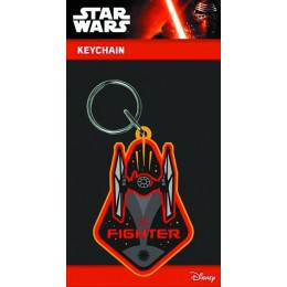 SW E7 Tie Fighter Rubber Keychain