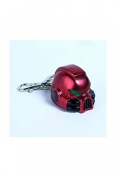 Warhammer 40K Metal Keychain Space Marine MKVII Helmet Blood Angels